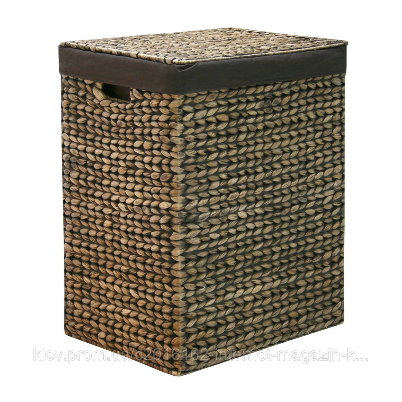Корзина для белья плетеная с крышкой Home4You MAYA-1  44x33xH56cm  dark brown