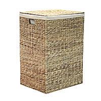Корзина для белья плетеная ротанг Home4You MAYA-1  44x35xH63cm  natural