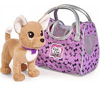 ЧиЧиЛав собачка - мандрівниця з сумкою-переноскою, 20см, 5893124