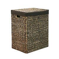 Корзина для белья плетеная ротанг Home4You MAYA-2  39x28xH52cm  dark brown