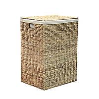 Корзина для белья плетение из водяного гиацинта Home4You MAYA-2  39x30xH59cm  natural