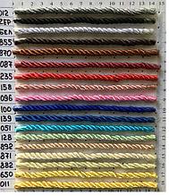 Кольоровий кручений декоративний шнур (канат) ширина 5мм (1уп-100ярдов=92метра)