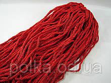 Витой декоративный шнур (канат)ярко красный ширина 5мм (1уп-100ярдов=92метра)