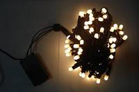 Светодиодная Гирлянда уличная 10м , LED 100 белый теплый ПВХ К-150