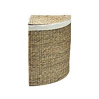 Корзина для белья угловая из водяного гиацинта Home4You MAYA-2  corner 38x38xH59cm  natural