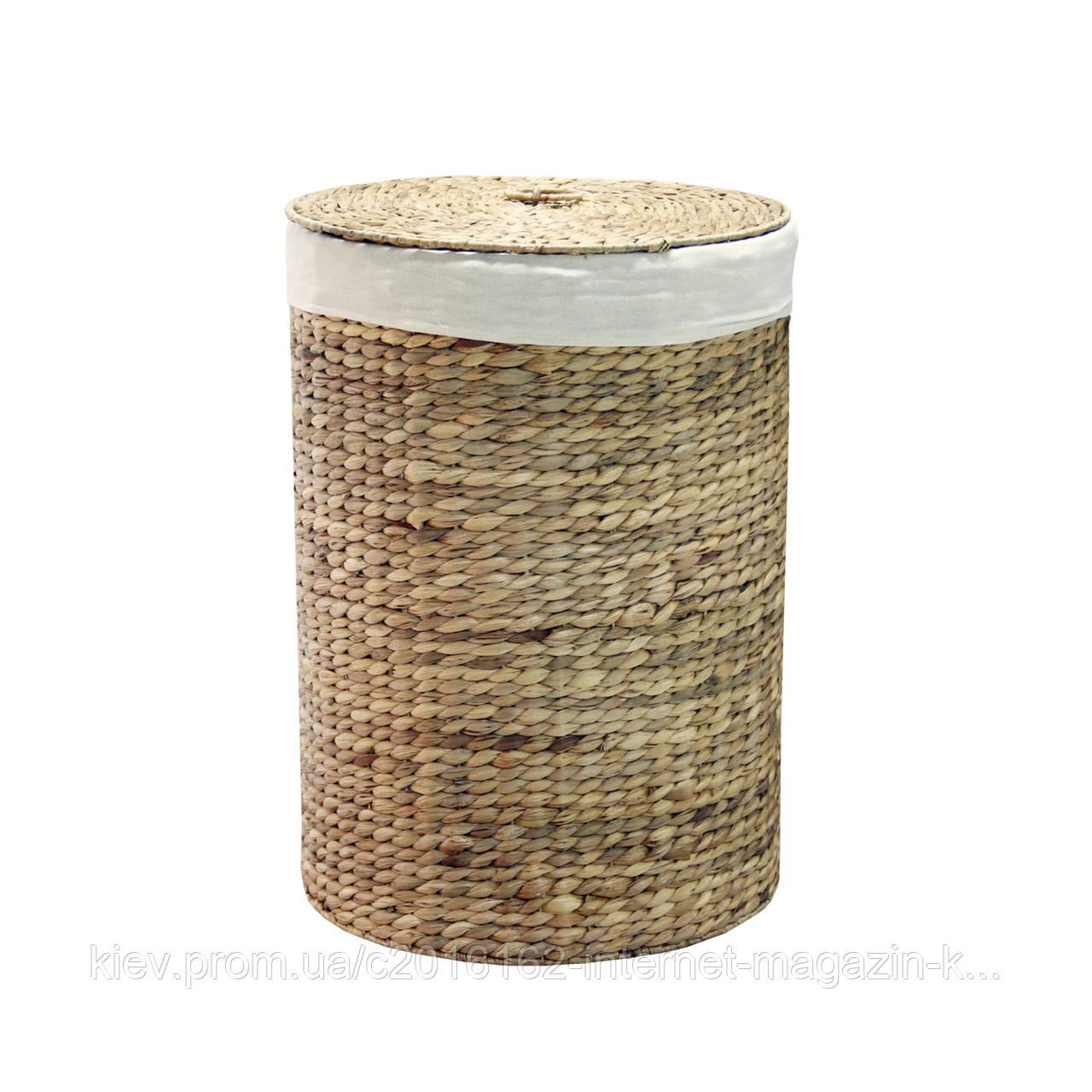 Корзина для белья плетеная Home4You MAYA-2  D37.5xH51cm  natural