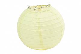 Бумажный подвесной шар молочный, 35 см