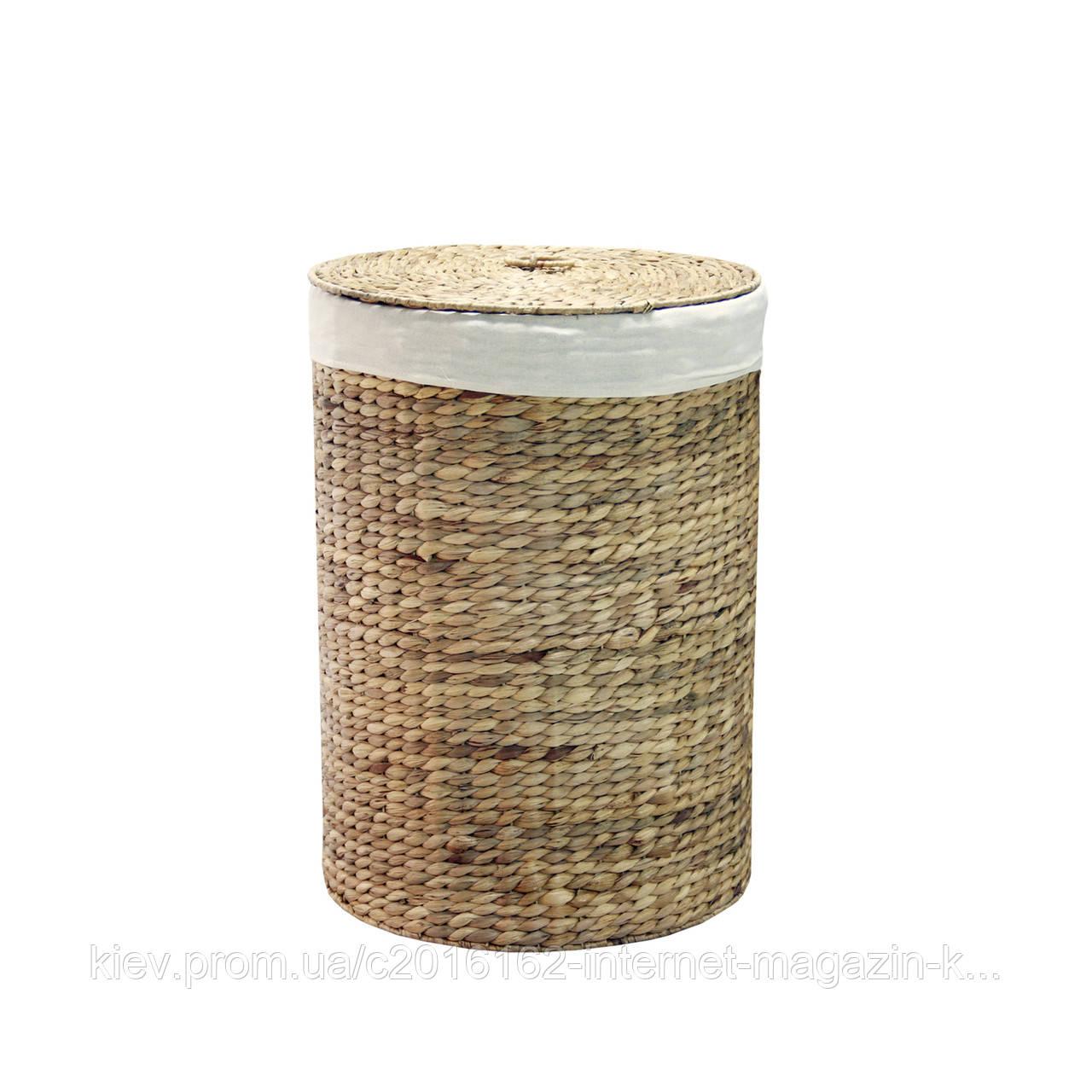 Корзина для белья плетеная с крышкой Home4You MAYA-3  D33xH47cm  natural