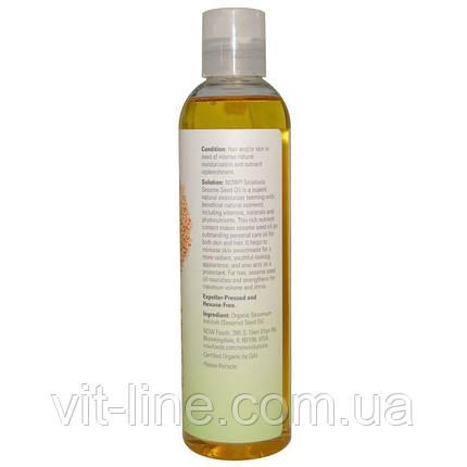 Now Foods, Now Solutions, кунжутное масло, сертифицированный органический продукт, 237 мл, фото 2