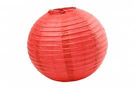 Бумажный подвесной шар красный, 35 см