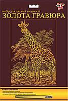 Гравюра Жирафы
