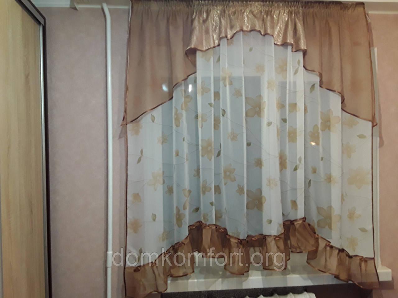 """Тюль для кухни """"Вероника"""" - Интернет-магазин домашнего текстиля  """"Домашний комфорт"""" в Хмельницком"""