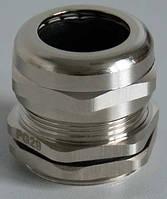 Кабельный ввод резьбовой латунный, с никелированным покрытием (PG резьба) pg21 Haupa