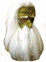 Маска карнавальная  с волосами и бородой Старец лицензионная