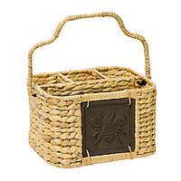 Плетеная корзина для столовых приборов Home4You CODY  21x15xH13cm  natural