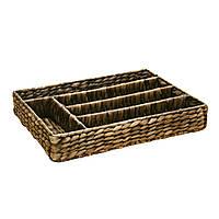 Корзина для столовых приборов плетеная Home4You Cutlery tray 36x28cm  brown