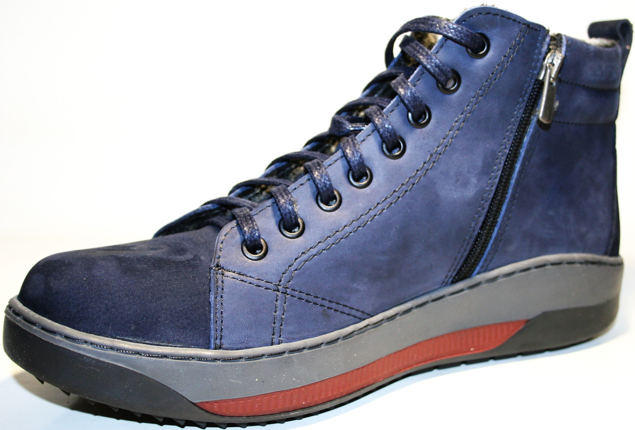 15dce3a7 Зимние ботинки мужские кожаные на меху Pandew в