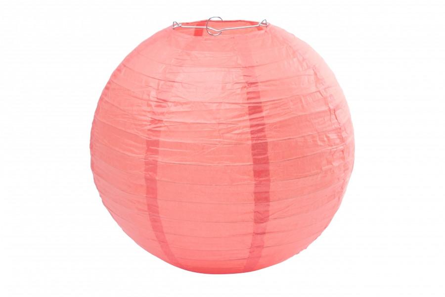 Бумажный подвесной шар коралловый, 35 см
