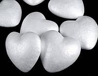 Объемное сердце из пенопласта 6см