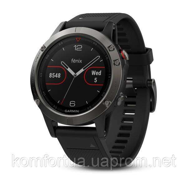 Часы Garmin Fenix 5 Slate Gray c c черным ремешком