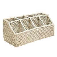 Корзинка для столовых приборов Home4You CELESTE  33x14xH15cm  white