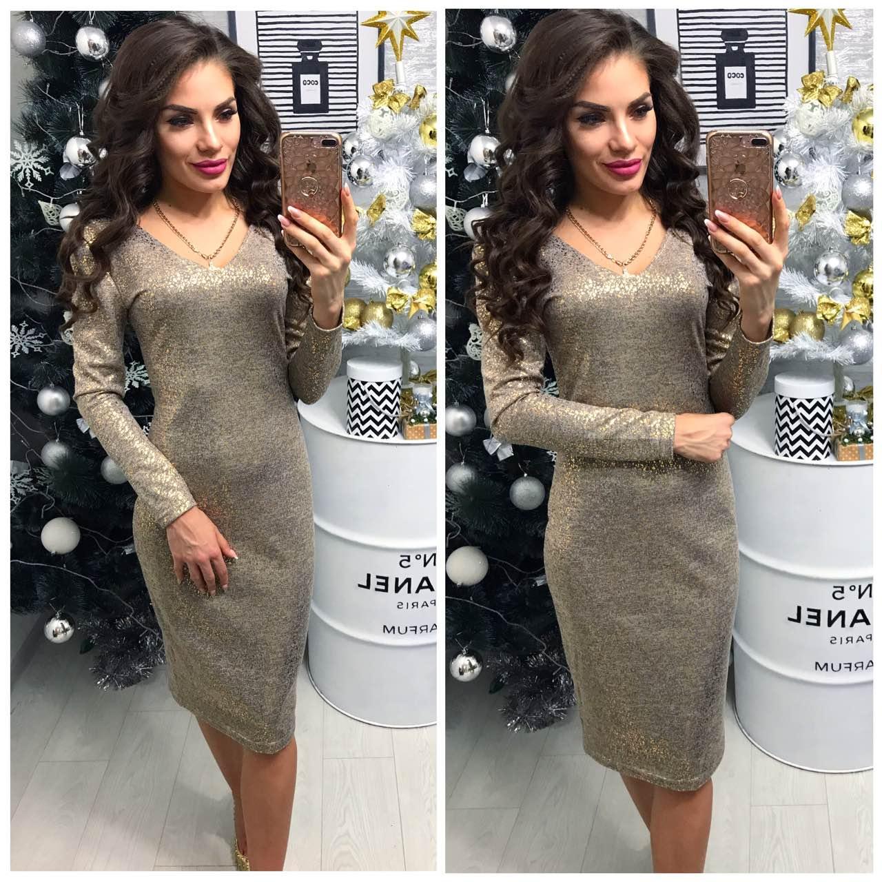 8810ace872f4 Платье женское (801 2) турецкий трикотаж люрекс графит  продажа ...