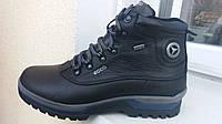 Зимние крепкие кожаные ботинки Ecco