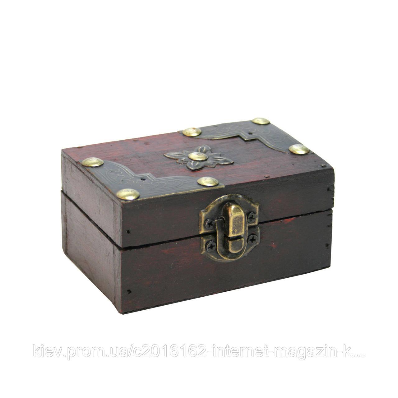 Сундук шкатулка Home4You BAO 10x6x5cm  bordo  wood