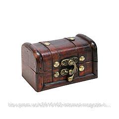 Ларец шкатулка Home4You BAO 10x6x6cm  bordo  wood