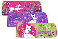 """Пенал Willy WL7120 """"Glamorous cats"""" (сумочка тубус) с глиттером"""