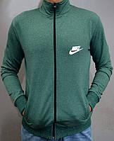 Спортивная кофта Nike на молнии - зеленая
