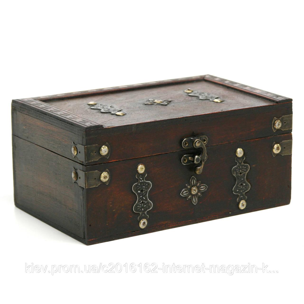 Сундук-шкатулка Home4You BAO-1  22x14x10cm  brown  wood