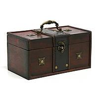 Сундук-шкатулка Home4You BAO-1  24x13x12cm  brown  wood