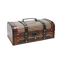 Пиратский сундук деревянный Home4You BAO-1  31.5x16x12.5cm  brown  wood