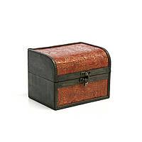 Сундук шкатулочка Home4You BAO-2  10x7x7cm   brown  artifical leather