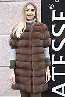 "Жилет из соболя ""Нарисса"" barguzin sable fur vest gilet , фото 1"