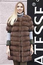 """Жилет из соболя """"Нарисса"""" barguzin sable fur vest gilet"""