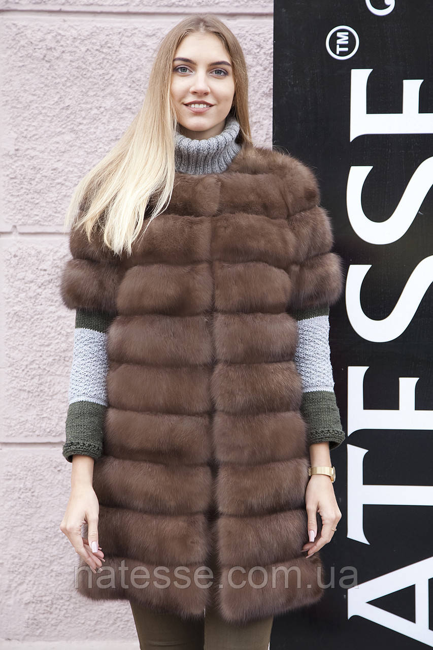 "Жилет из соболя ""Нарисса"" barguzin sable fur vest gilet"