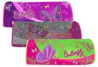 "Пенал Willy WL7122 ""Sweet butterflies"" (сумочка тубус) с глиттером"