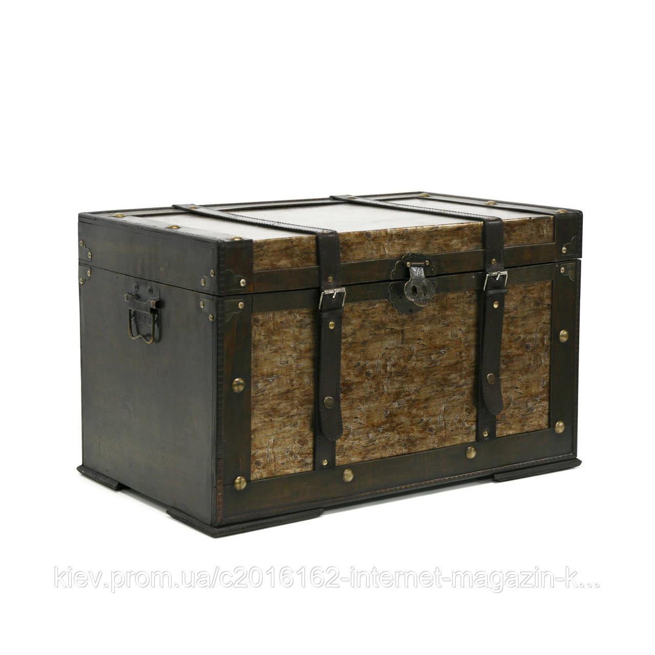 Деревянный сундук напольный Home4You BAO-2  60x36x36cm  bronze  wood
