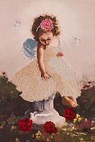 """Набор для вышивки бисером """"Ангелочек с голубями"""" FLF-015"""