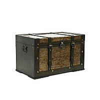 Сундук деревянный Home4You BAO-3  49x30x30cm  bronze  wood