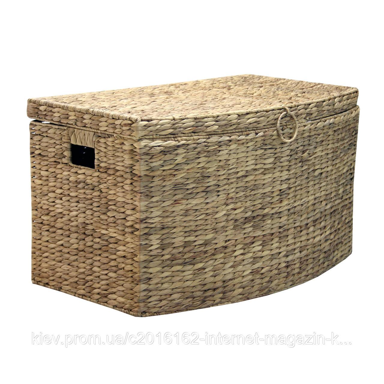 Большая плетеная корзина с крышкой Home4You MAYA-1  69x43xH41cm  natural