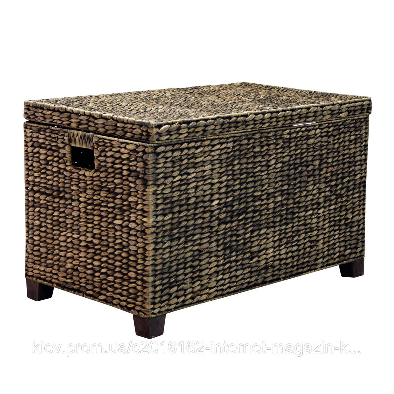 Корзина плетеная из ротанга Home4You MAYA-1  75x42xH46cm  dark brown