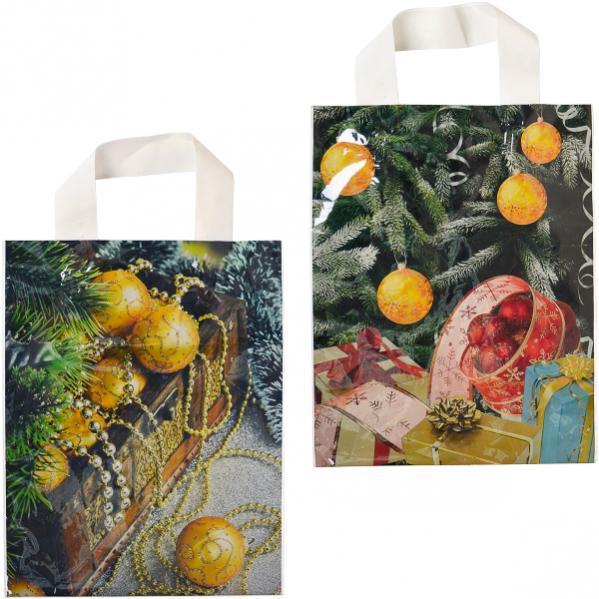 Пакет ламинированный новогодний «Петля» малый