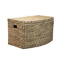 Корзина плетеная средняя с крышкой Home4You MAYA-2  63x37x37cm  natural