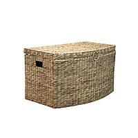 Сундук плетеный с крышкой маленький Home4You MAYA-3  57x31x33cm  natural