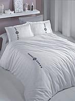 Качественный комплект постельного белья Esclusiva з 3D вишивкою SOFT 200*220/4*50*70