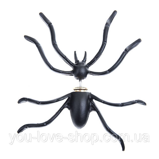 размеры серьги паука
