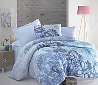 Хлопковое постельное белье DE LUCA голубой 200*220/2*50*70